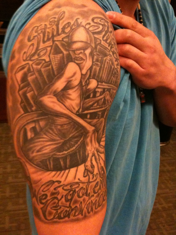 "tattoo rendition of my studio painting ""Lounge Smoke"" I was so honored."